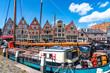 canvas print picture - Historisches Hafengebiet, Hoorn, Holland
