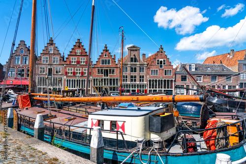 Obraz Historisches Hafengebiet, Hoorn, Holland - fototapety do salonu