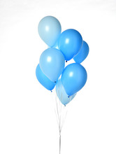 Bunch Of Big Blue Balloons Obj...