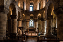 LONDON, ENGLAND, DECEMBER 10th, 2018: Chapel Of St John The Evangelist Inside The White Tower Building At The Tower Of London, Royal Palace And Castle By The River Thames In London, England