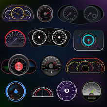 Speedometer Vector Car Speed D...