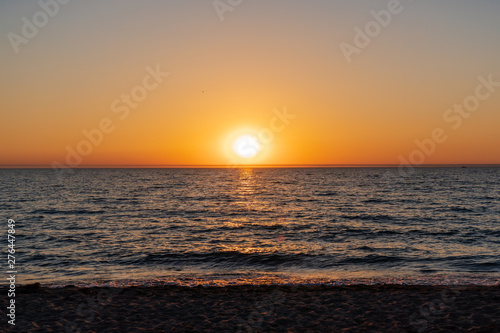 Sunset over South haven Michigan