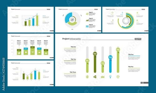 Photo  Statistics process, bar, pie and doughnut charts