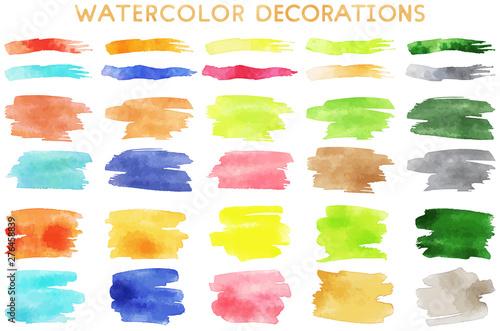 Fototapeta watercolor decorations obraz