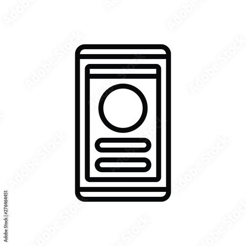 Black line icon for user interface Wallpaper Mural