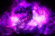 canvas print picture - Cosmic dragon in space, cosmic abstract background