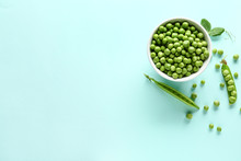 Bowl With Tasty Fresh Peas On ...