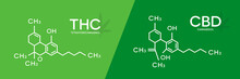 THC And CBD Formula. Tetrahydr...