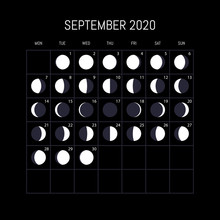 Moon Phases Calendar For 2020 ...