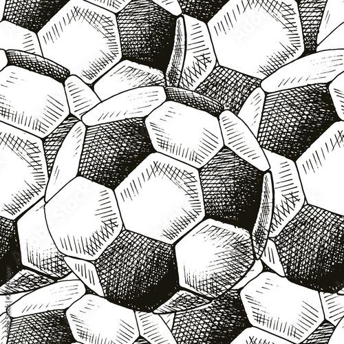 Plakat z wzorem piłki nożnej