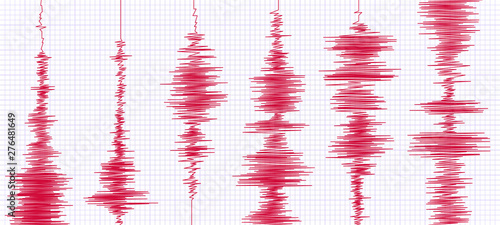 Fotomural Seismogram earthquake graph