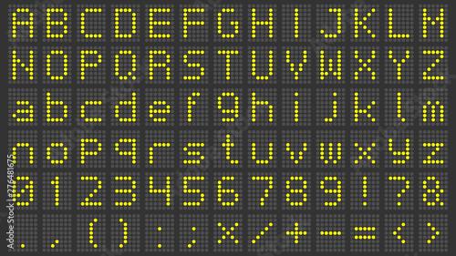 Led display font  Digital scoreboard alphabet, electronic