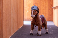 Large Plush Brown Toy Horse In...