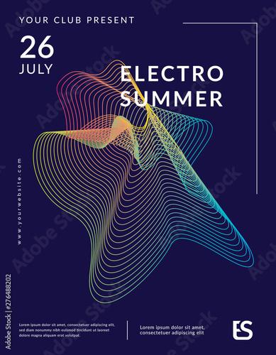 Fotografie, Obraz Music wave poster design
