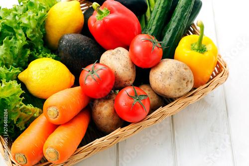Fototapeta 野菜 Vegetables on white background obraz na płótnie