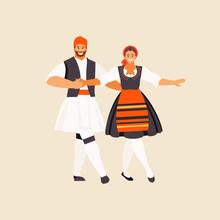 Greeks Dancing Sirtaki Vector