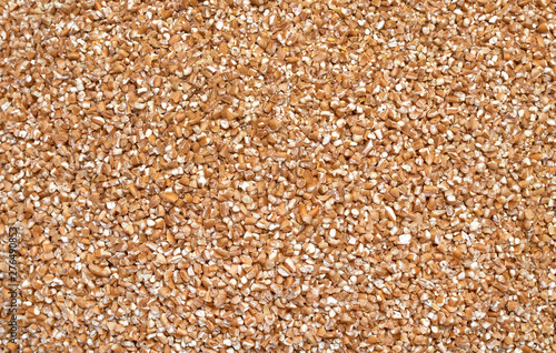 Cuadros en Lienzo  Background texture of crushed seed and grain mix for livestock and bird feed