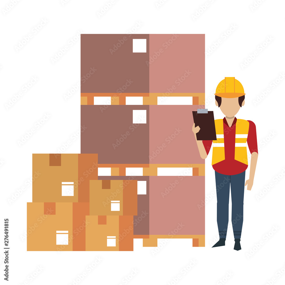 Fototapety, obrazy: Warehouse worker logistics job concept