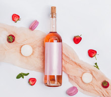 Rose Wine, Strawberries And Fr...