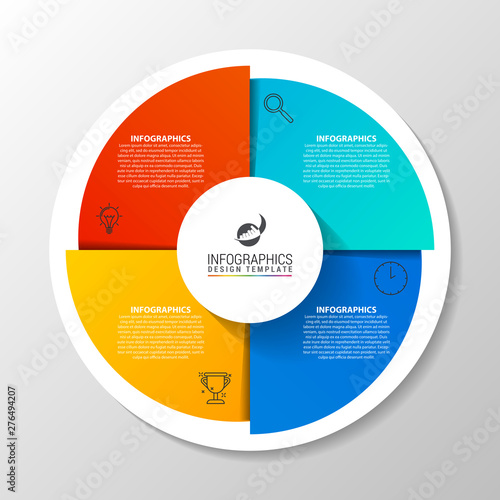 Fotomural Infographic design template. Creative concept with 4 steps