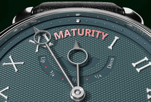 Achieve Maturity, Come Close To Maturity Or Make It Nearer Or Reach Sooner - A Watch Symbolizing Short Time Between Now And Maturity., 3d Illustration