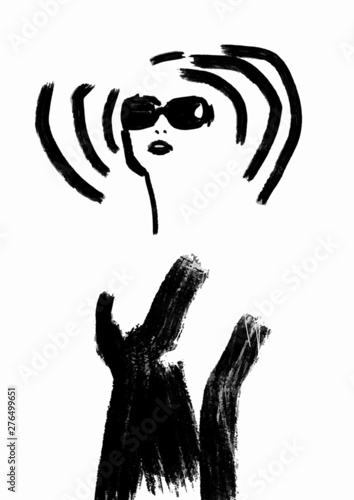 Sketch Fashion Abstract Simple Black And White Line Drawing