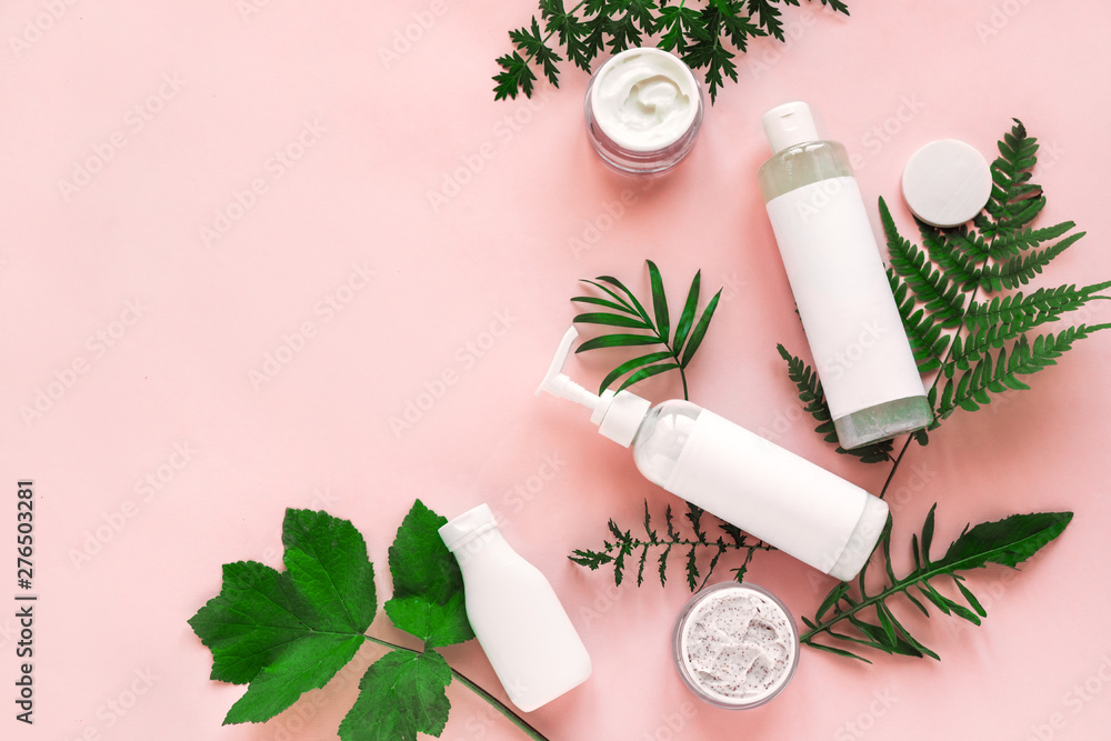 Fototapety, obrazy: Natural cosmetics and leaves