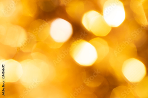 Fototapeta gold sparkle glitter abstract bokeh background Christmas obraz na płótnie