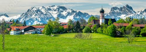 Tela Panorama Landschaft in Bayern bei Seeg im Allgäu