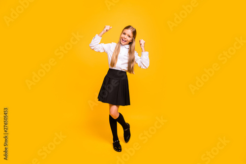 Fotografía  Full length body size view of her she nice-looking attractive lovely cheerful ch