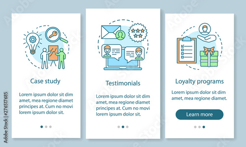Decision making content onboarding mobile app page screen with linear concepts Canvas Print