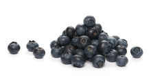 Blueberries Macro Isolated On White Background