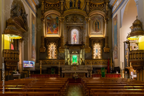 Fotografie, Obraz  Interior of the church of San Lorenzo in Pamplona, Spain