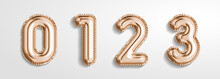 Soft Rose Gold Balloon Number ...