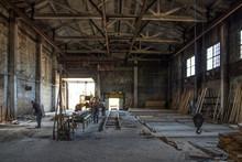 The Old Industrial Wood Hangar...