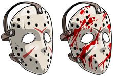 Cartoon Scary Halloween Goalie...