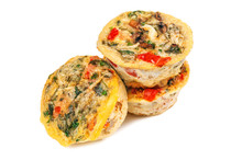 Vegetable Muffins On White
