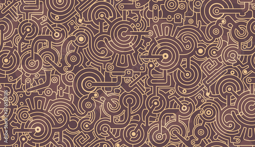 Abstract seamless pattern Wallpaper Mural