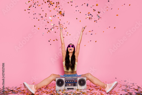 Fotografía  Portrait of her she nice-looking lovely attractive cheerful cheery careless funk