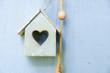 kleines Holz Haus Herz