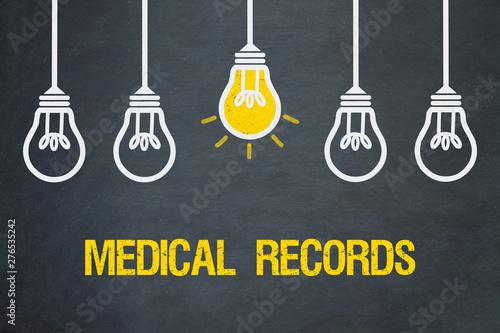 Deurstickers Graffiti collage Medical Records