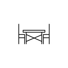 Simple Terrace Line Icon.