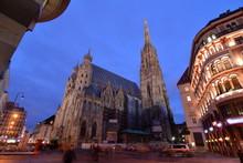 Stephansplatz At The Night;Vienna;Austria