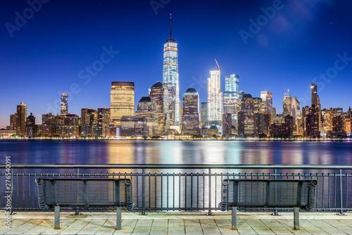 Fototapeten New York New York City on the Hudson River
