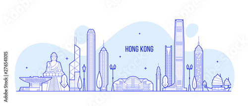 Photographie  Hong Kong skyline People Republic of China vector