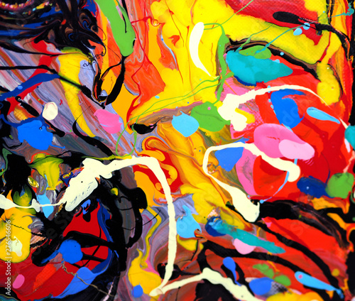 Photo sur Aluminium Graffiti colorful oil paint multi colors abstract background.