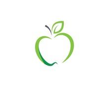 Healthy Apple Vector Design Icon
