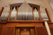 Pipe Organ Viewed From Below