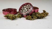 Medical Marijuana Buds And Gri...