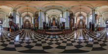 Full Seamless Spherical Hdri Panorama 360 Degrees Angle View In Interior Gothic Catholic Basilica Of Saints Jesus Heart In Equirectangular Projection, AR VR Content